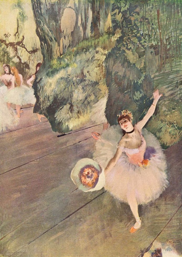 Degas, Edgar: Dancer with a Bouquet of Flowers. Fine Art Print/Poster. Sizes: A4/A3/A2/A1 (001375)
